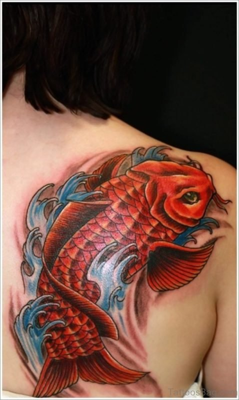 Pretty Fish Tattoo On Back