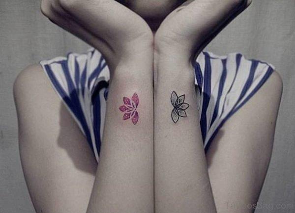 Pretty Flowers Tattoo On Wrist