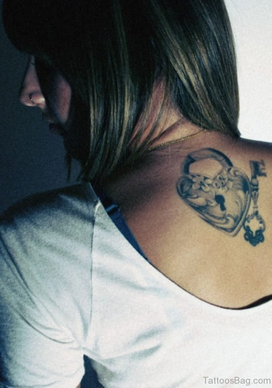 Pretty Heart Lock Tattoo