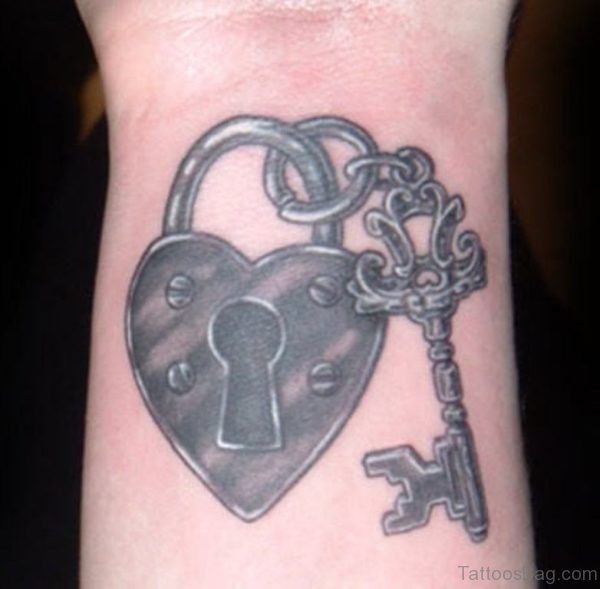 Pretty Key Tattoo