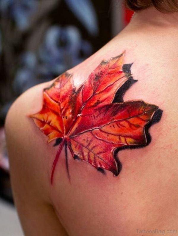 Pretty Leaf Tattoo