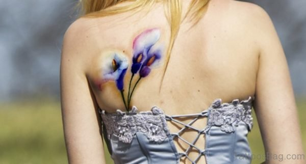 Pretty Lily Tattoo Design