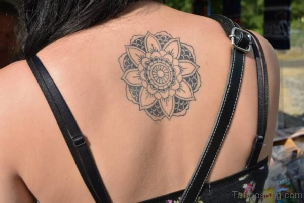 Pretty Mandala Tattoo On Back