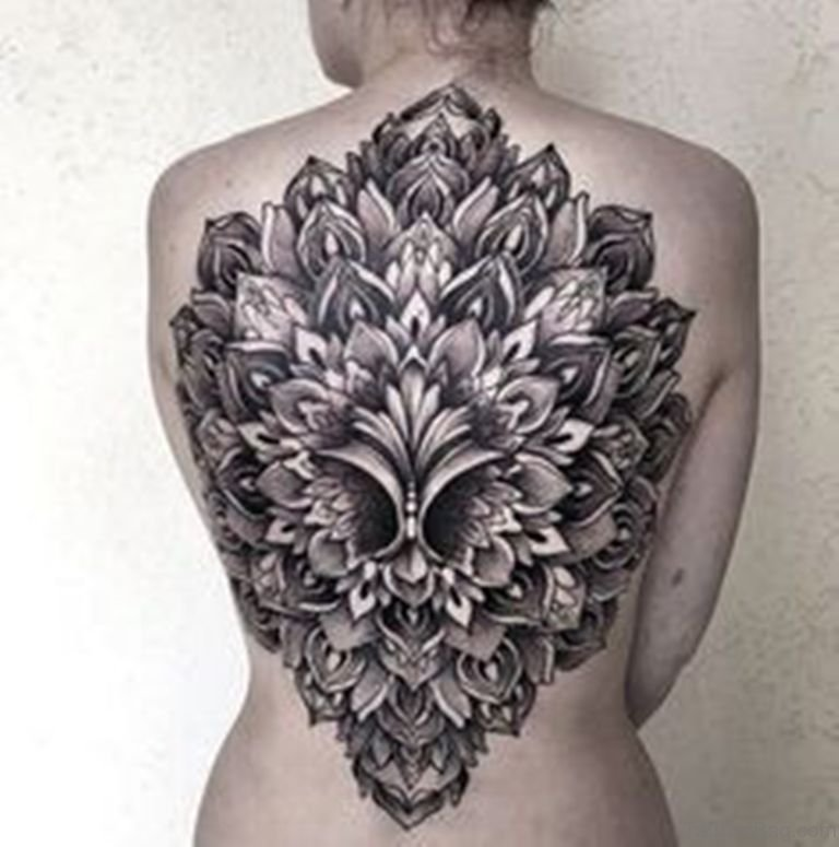 66 modern mandala tattoos on back. Black Bedroom Furniture Sets. Home Design Ideas