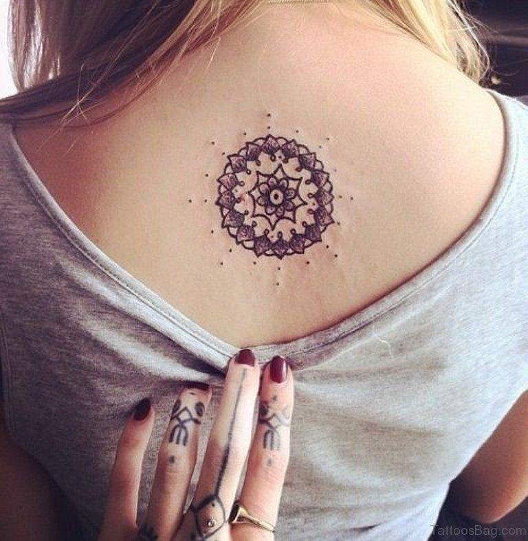 3055a47c93632 Pretty Mandala Tattoo On Upper Back