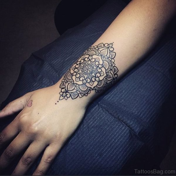 Pretty Mandala Tattoo On Wrist