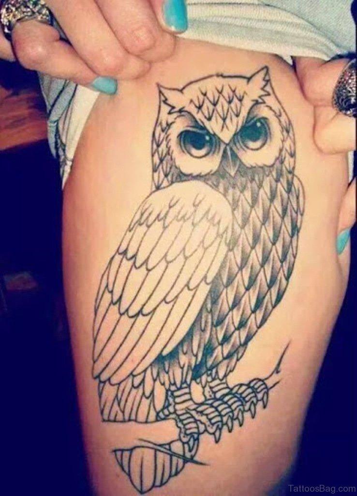 Owl mandala | Owl thigh tattoos, Tattoos, Leg tattoos