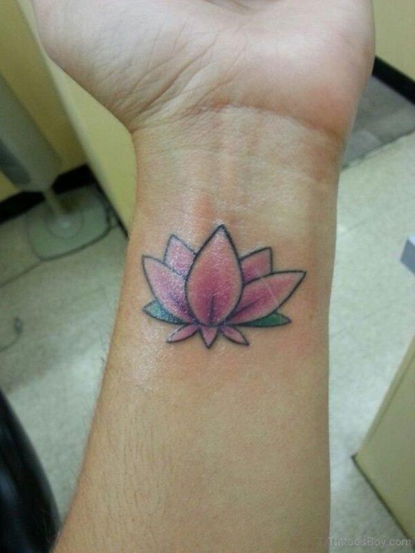 Pretty Pink Lotus Tattoo