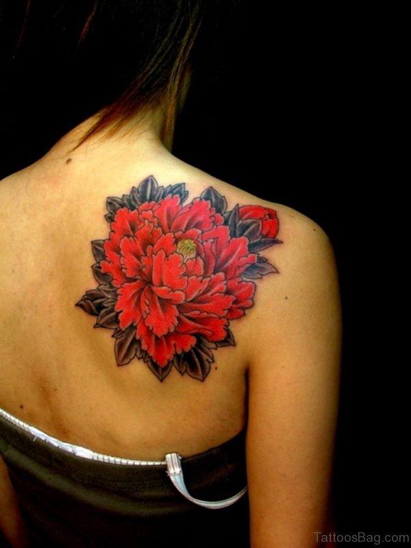 Pretty Red Flower Tattoo