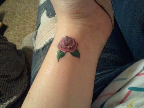 Pretty Rose Flower Tattoo