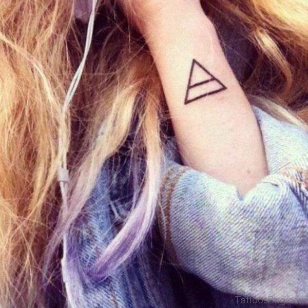Prism shape Geometric Tattoo
