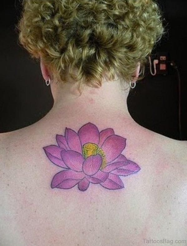 Purple Lotus Flower Tattoo