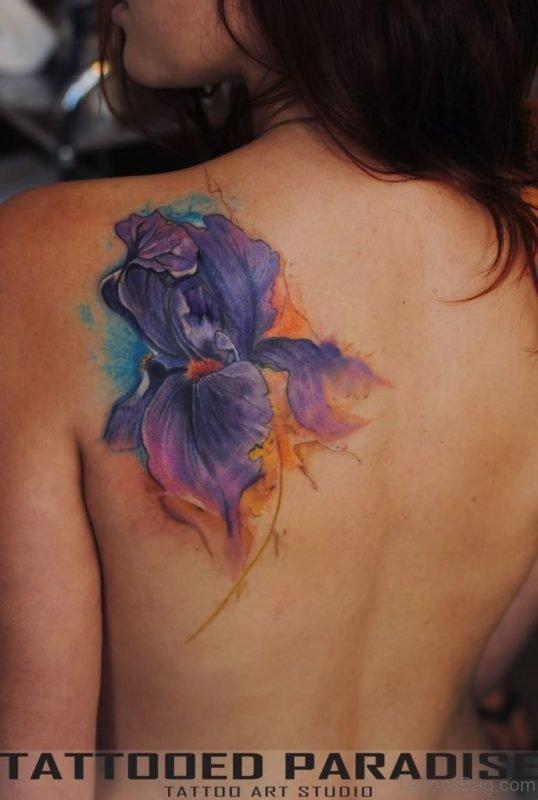 Purple Poppy Tattoo
