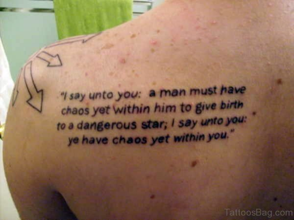 Quote Back Tattoo