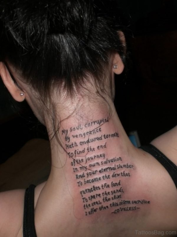 Quotes Tattoo On Back