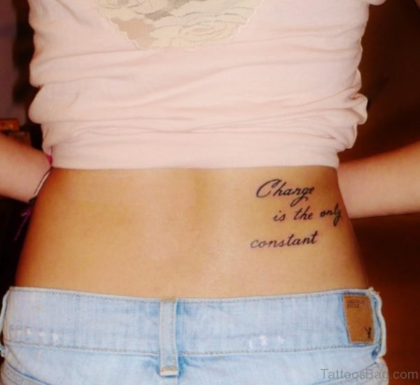 Quotes Tattoo On Lower Back