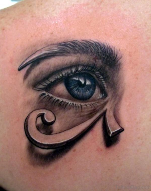 Reptilian Eye Tattoo