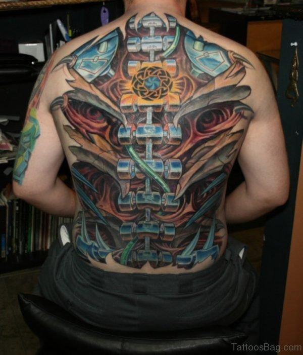 Realistic Biomechanical  Tattoo