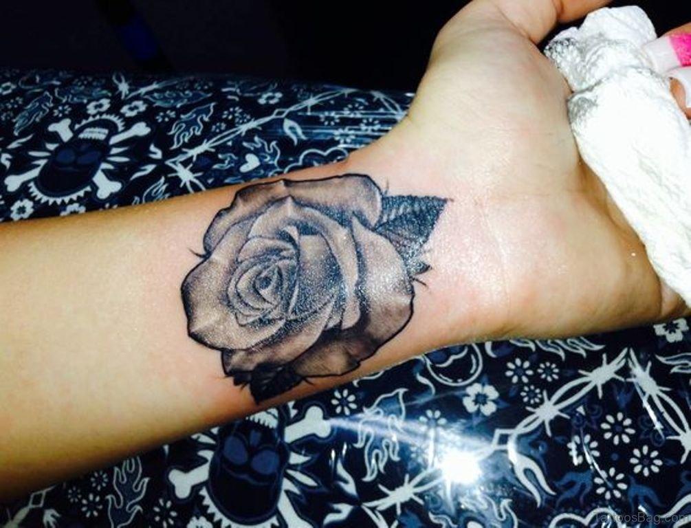 15 Delightful Black Rose Tattoos On Wrist  Rose