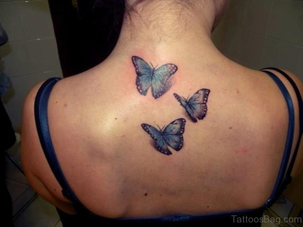 Realistic Butterflies Tattoo Design