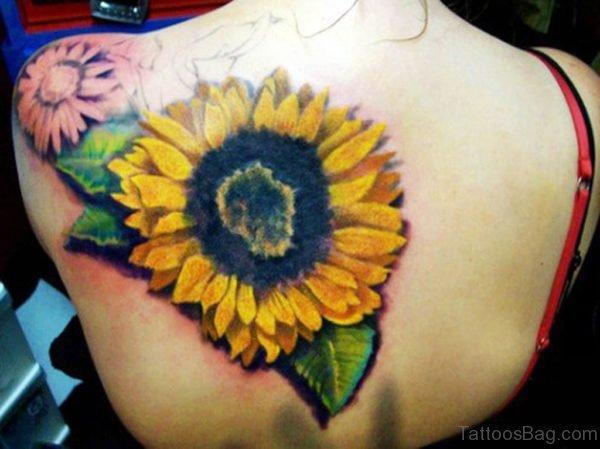 Realistic Sunflower Tattoo Design