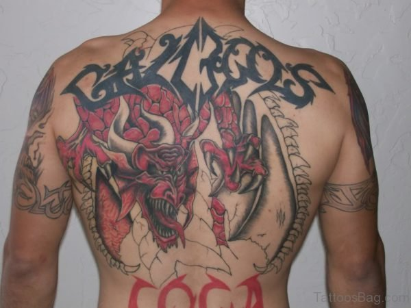Red Black Dragon Tattoo