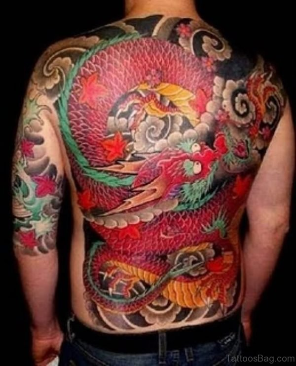 Dragon Tattoo Design On Back