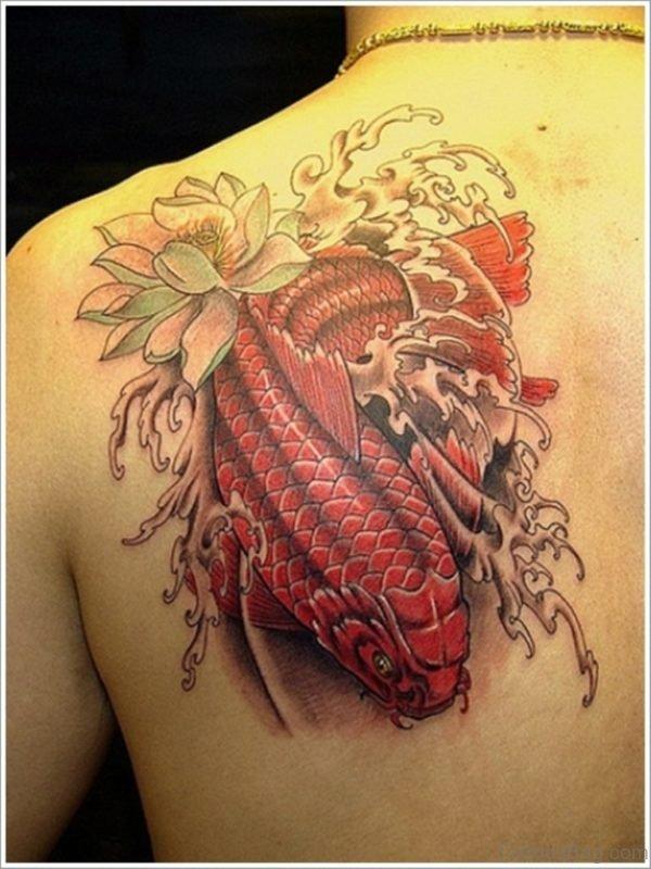 Red Fish Tattoo Design