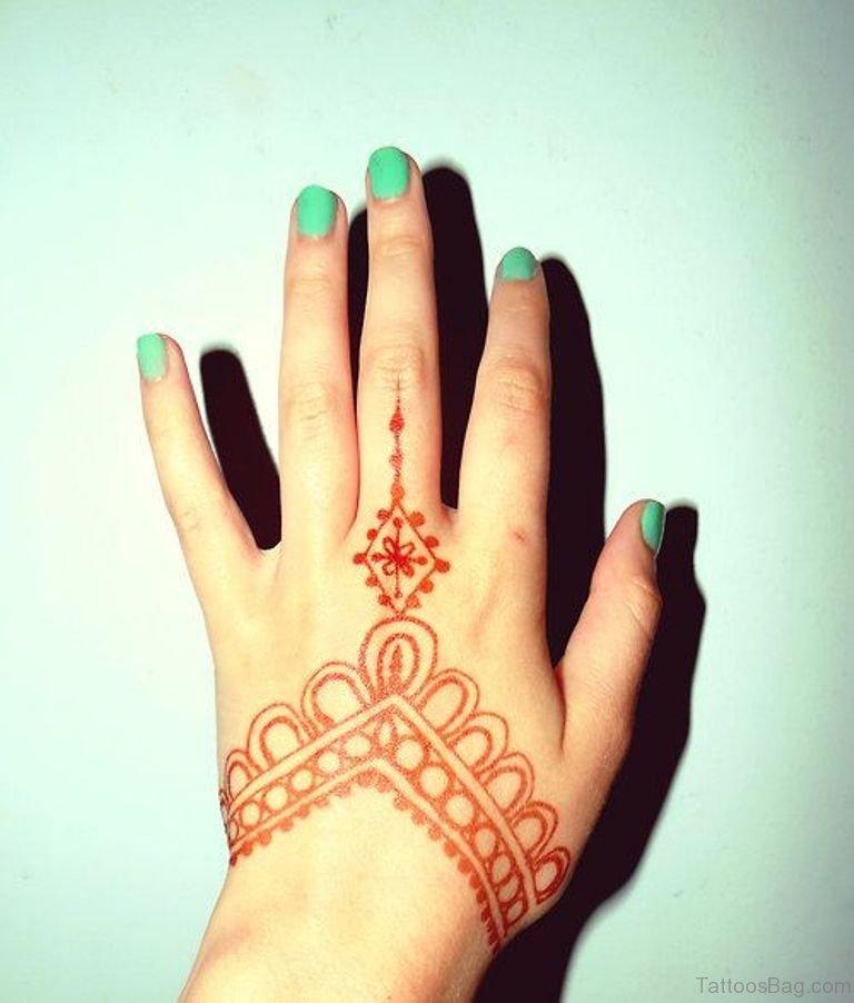 Red Henna Tattoo: 72 Stylish Heena Tattoos On Finger