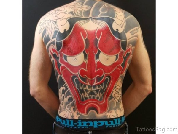 Red Oni Mask  Tattoo