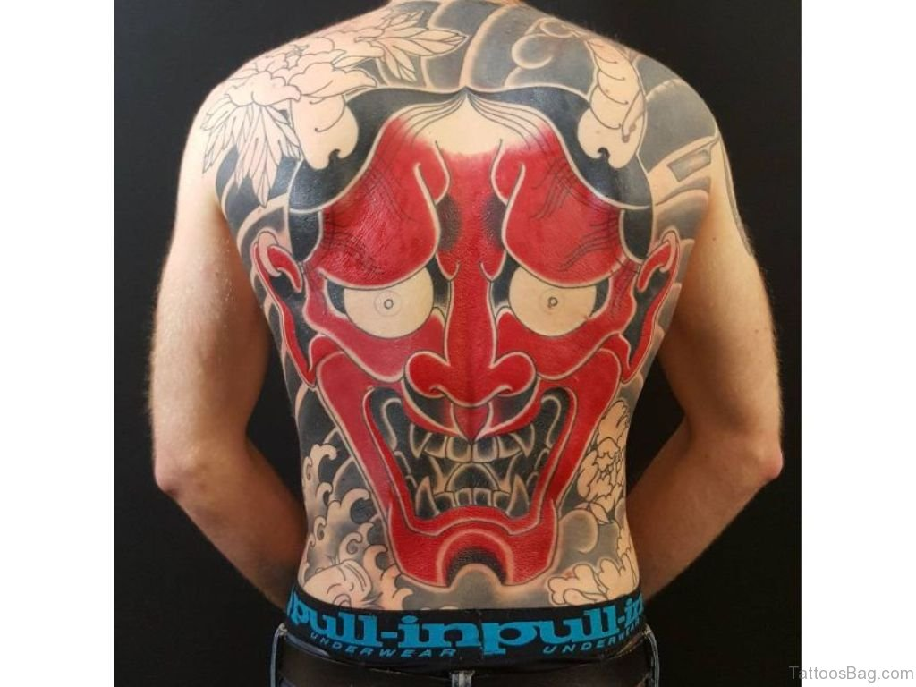 Oni Mask Tattoo: 83 Dark And Mysterious Mask Tattoos On Back