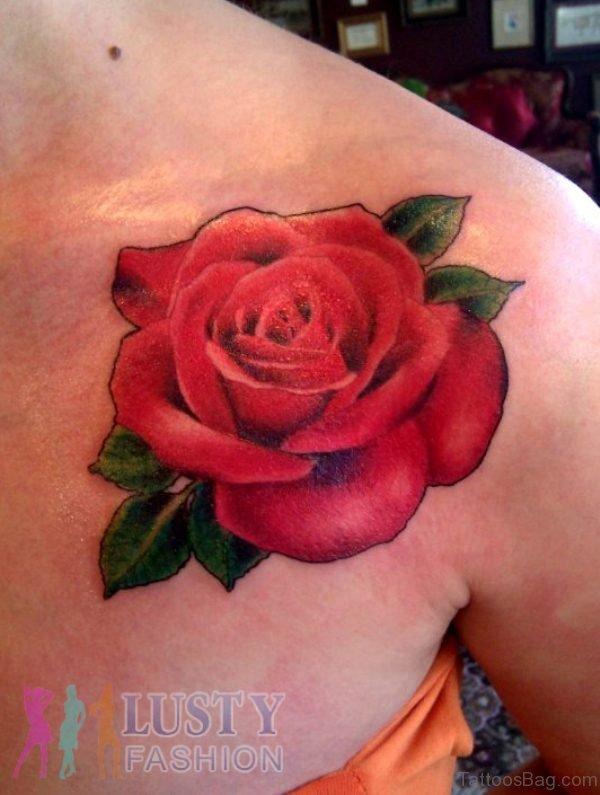 Red Rose Tattoo Design