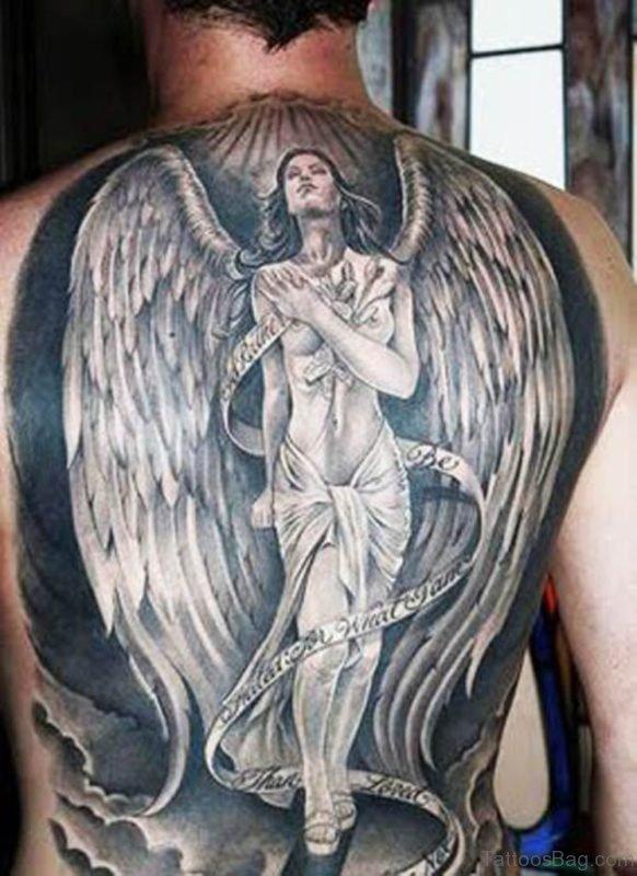 Religious Angel Tattoo