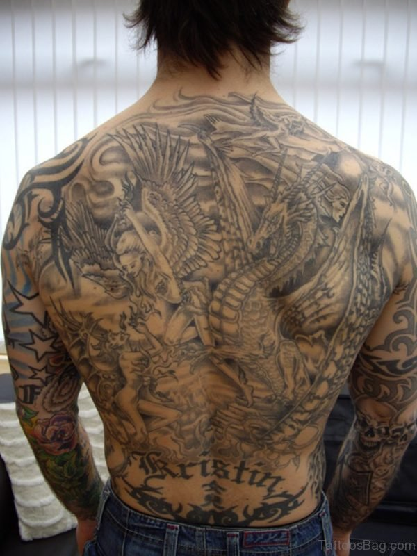Religious Back Tattoo Picture
