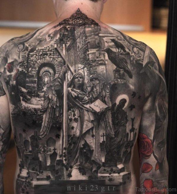 Religious Back Tattoo