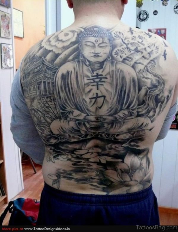 Religious Buddhist Tattoo Design