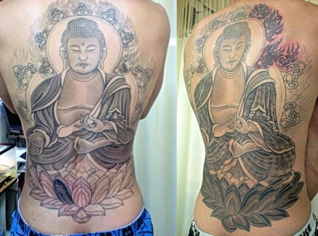 40 exclusive buddhist tattoos for back for Buddhist tattoo ideas