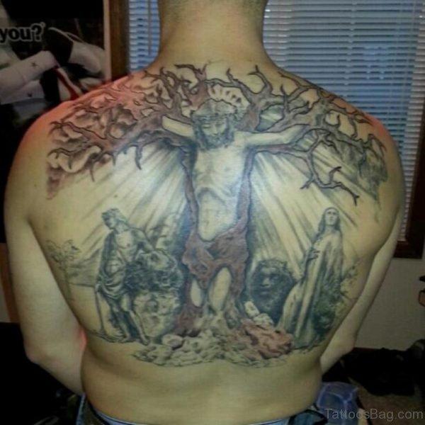 Religious Christian Tattoo For Back