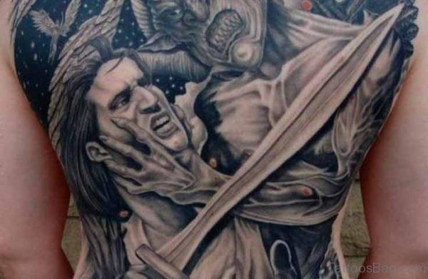 Religious Tattoo Angel Versus Demon