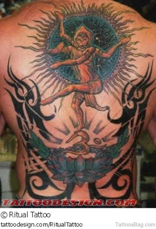 Religious Tattoo Design On Full Back