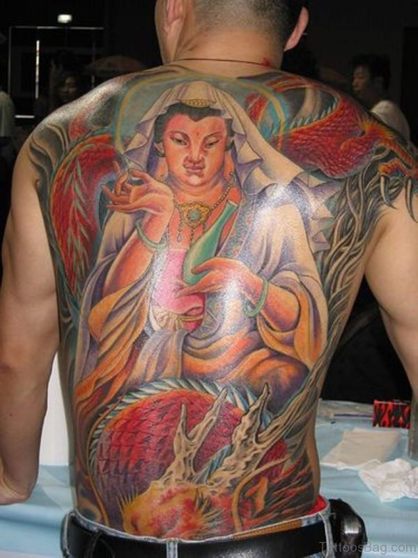 Religious Tattoo On Full Back