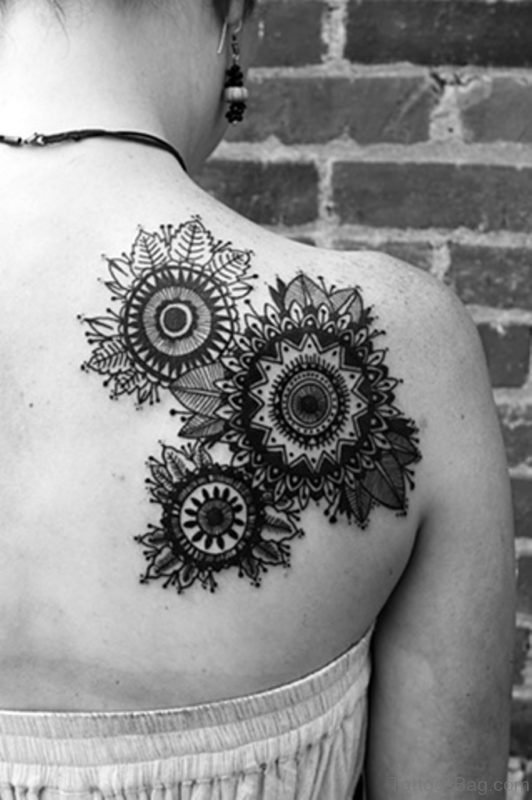 Right Back Mandala Tattoo