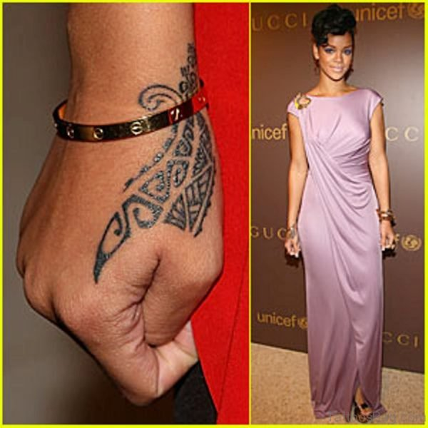 Rihanna Tribal Tattoo
