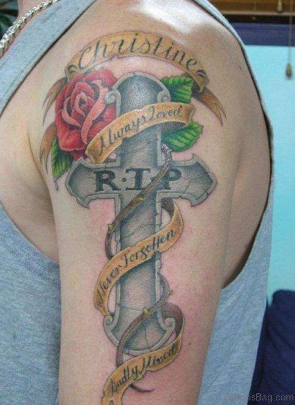 Rip Cross Tattoo