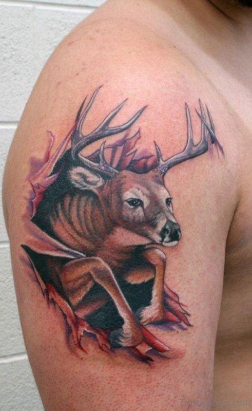 Rip Deer Tattoo For Men