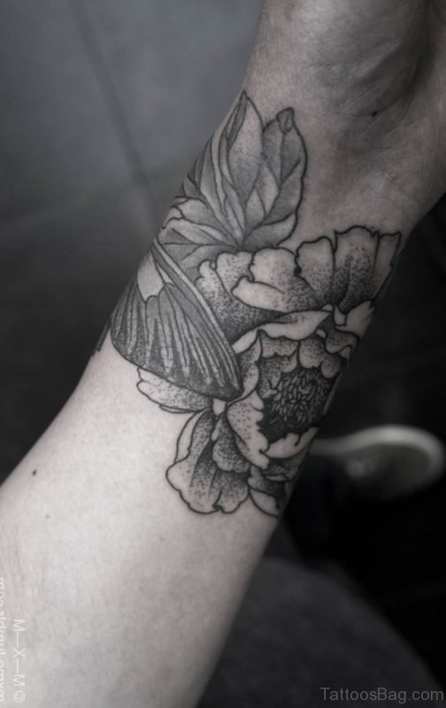 Riveting Wrist Flower Tattoo