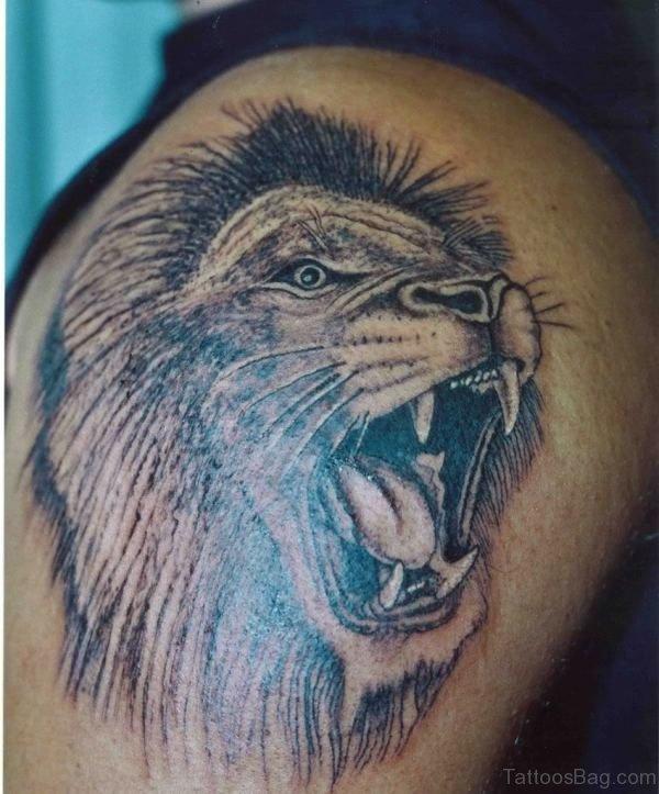 Roaring Lion Tattoo Design
