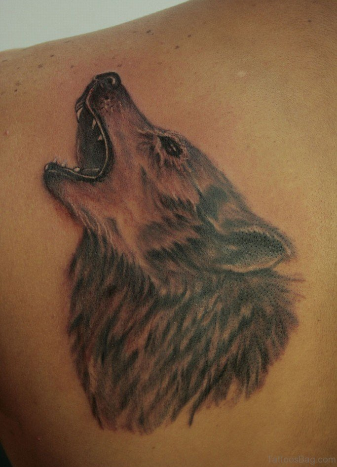 93 stunning wolf tattoos for back for Red wolf tattoo