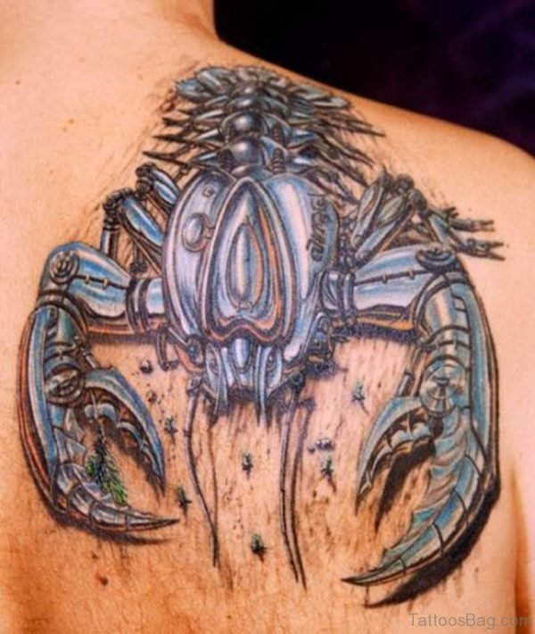 Robotic crab tattoo
