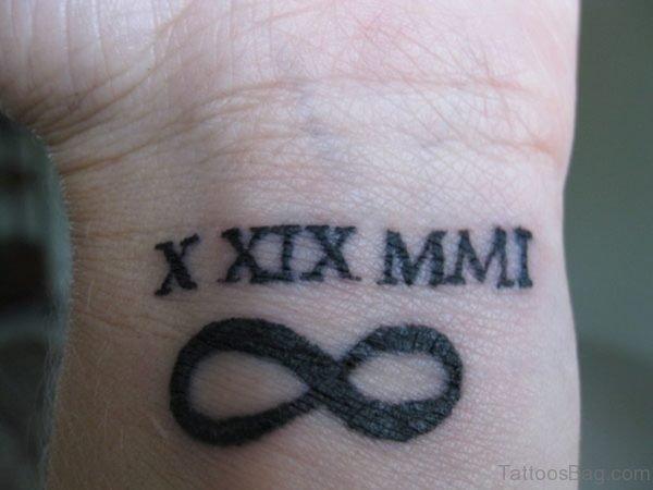 Roman Numbers Tattoo On Wrist